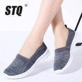 2019 Spring Women Sneakers Shoes Women Breathable Mesh Shoes Ballet Flats Ladies Slip On Flats Loafers Shoes Plus Size 7695 Stq/hoodmat.com