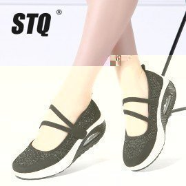 2019 Summer Women Flats Platform Shoes Women Breathable Mesh Casual Shoes Female Platform Sneakers Shoes Ladies Shoes Tf8023 Stq/hoodmat.com