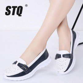 2019 Spring Women Flats Mary Jane Leather Shoes Slip On Ballet Flats Ballerines Flats Woman Flat Loafers Walking Shoes 7736 Stq/hoodmat.com