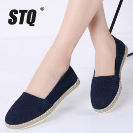 2019 Spring Women Loafers Shoes Suede Leather Slip On Ladies Casual Flats Shoes Mocassins Creepers Oxfords Shoes Woman 7023 Stq/hoodmat.com