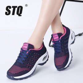 2019 Spring Women Sneakers Flats Shoes Mesh Nonslip Rubber Sole Lace Up Tenis Feminino Platform Shoes Sneakers Woman 1667 Stq/hoodmat.com