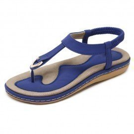 2018 Summer Shoes Leather Woman Sandals Bohemia Non-Slip Soft Bottom Flat Women Flip Flops Sandals Plus Size Fpss/hoodmat.com