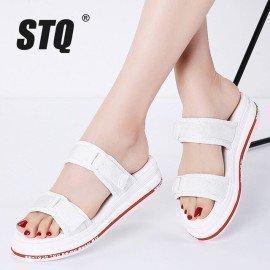 2019 Summer Women Flat Sandals Shoes Women Wedges Platform Sandalias Buckle Sandals High Heels Strap Sandals 6902 Stq/hoodmat.com