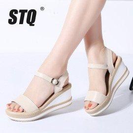 2019 Summer Women Sandals Flat Platform Sandals Women Wedge Beach Flip Flops Ladies High Heel Wedge Sandals 87333 Stq/hoodmat.com