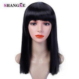40Cm Halloween Hair Long Straight  Wig Womans Heat Resistant Synthetic Female Cosplay Wigs For White Women Fake Hair Shangke  Shangke/hoodmat.com