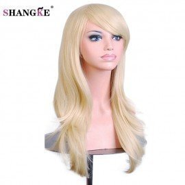 28 Long Wavy Synthetic Wigs For  Women Pink Purple Cosplay Wig Heat Resistant Fake Hair Wig Pieces 10 Colors  Shangke/hoodmat.com