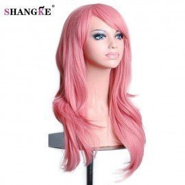 28 Long Wavy Wig Red Synthetic Cosplay Wigs For  Women Heat Resistant Female Hair Pieces 10 Colors Available Shangke/hoodmat.com