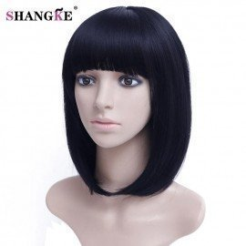 14  Bob Wig Short Synthetic Wigs For  Women Heat Resistant Straight Hair For  Women Hairpieces Shangke/hoodmat.com