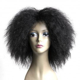 6.5 Inch 120G/Pcs Hair Fluffy Kinky Curly  Wigs Heat Resistant Synthetic Cosplay Wig For  Women  Shangke/hoodmat.com