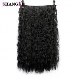 22 Long Wavy Hair Extensions 5 Clips In Fake Hair Extension Heat Resistant Synthetic Fake Hairpiece Hairstyle Shangke/hoodmat.com