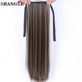 22&Quot; Long Straight Hair Pony Tail Hairpieces Drawstring Ponytails Synthetic Hair Extension Hair Pieces  Shangke/hoodmat.com