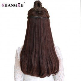 24 180G Clip In Hair Extension Natural Fake Hair Pieces Heat Resistant Synthetic Hair Extensions Enough For Whole Head Shangke/hoodmat.com