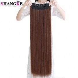 80Cm 100Cm Long Straight Women Clip In Hair Extensions Heat Resistant Synthetic Hair Piece  Hairstyle Shangke/hoodmat.com