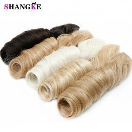 28 Long Wavy 5 Clip In Hair Extensions Heat Resistant Synthetic Fake Hairpieces Natural False Hair Pieces Women Hair Shangke/hoodmat.com