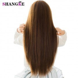 5 Clip In Hair Extensions Strong Clip On Hair Extensions Heat Resistant Synthetic Hair Pieces Natural Clip Fake Hair Shangke/hoodmat.com