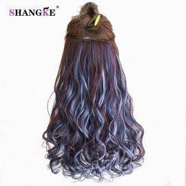 24 Long Curly Clip In Hair Extensions Heat Resistant Hair Pieces Colorful 5 Clip In Hair Extensions Women Hairstyles Shangke/hoodmat.com