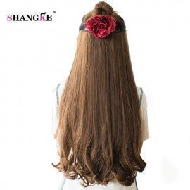 26 Long Clip In Hair Extensions Clip In Synthetic Hair Pieces Heat Resistant Fake Hairstyles Women 3 Length Available  Shangke/hoodmat.com