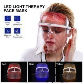 3 Colors Led Light Therapy Face Mask Beauty Instrument Facial Spa Treatment Anti-Aging Anti Acne Wrinkle Removal Skin Tighten Shangke/hoodmat.com