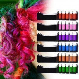 6Pcs/Set Disposable Hair Dye Combs Hair Dye Color Cream Hair Multicolor Chalk Powder With Comb Crayons Hair Dyeing Tool Tslm2 Shangke/hoodmat.com
