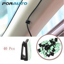 40Pcs Car Vehicle Data Cord Cable Tie Mount Wires ..