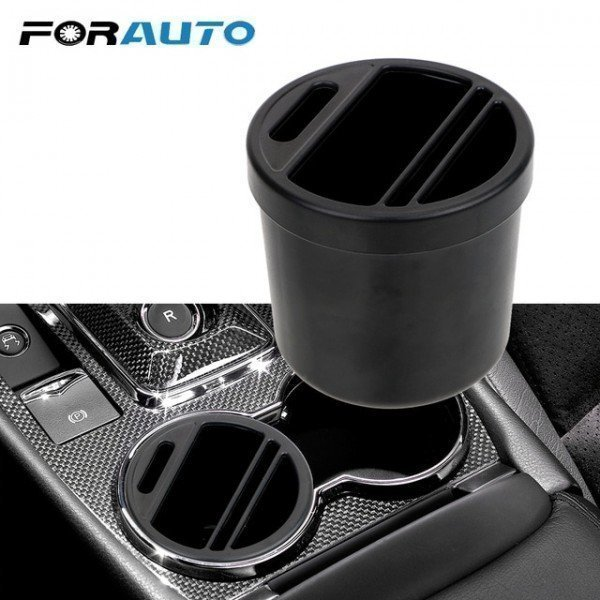Car Armrest Box Cigarette Coin Card Holder Storage Box Auto Organizer Cup Storage Box Universal Forauto/hoodmat.com