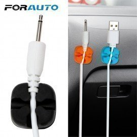 Car Cable Organizer Storage Cord Charger Line Clamp Cable Data Line Clips Tie Fixer Wire Holder For Earphone Usb Cable Forauto/hoodmat.com