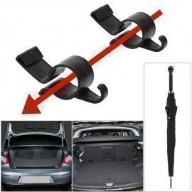2Pcs/Set Car Rear Trunk Mounting Bracket Umbrella Holder For Umbrella Hanging Hook Towel Hook Automobile Trunk Organizer Forauto/hoodmat.com