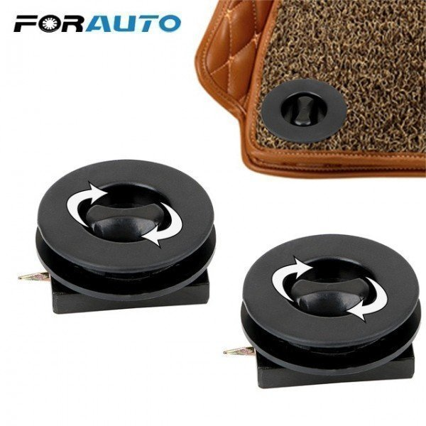2 Pieces/Set Interior Carpet Fixing Auto Footcloth Fastener Clip Auto Mat Organizer Car Mat Clamps Plastic  Forauto/hoodmat.com