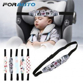 Car Safety Seat Head Fixing Auxiliary Cotton Belt Kids Sleep Head Support Holder Baby Pram Safety Seat Holder Belt Child Forauto/hoodmat.com