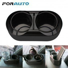 Dual Hole Drink Bottle Water Beverage Holder Cup Holder Stand Car Truck Mount Abs Universal Car Styling Auto Accessories Forauto/hoodmat.com