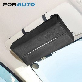 Universal Car Sun Visor Tissue Box Holder Pu Leather Tissue Box Cover Case For Paper Auto Organizer Accessories Forauto/hoodmat.com