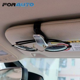 Car Sun Visor Sunglasses Holder Car Glasses Cases Ticket Card Clamp Fastener Cip Abs Car Styling Eyeglasses Clip Forauto/hoodmat.com