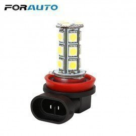 Car Headlight Led 5050 18 Smd H11 H8 Bulb Car-Styling Led Lamps For Cars Dc12V Driving Fog Lights White Car Light Forauto/hoodmat.com