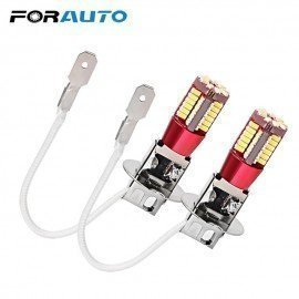 1 Pair H3 Led Car Headlight Bulbs 3014 Smd 57 Leds Light Source Fog Lamp Head Light Car-Styling Forauto/hoodmat.com