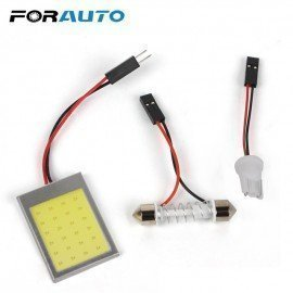 Cob Light Source Auto Accessories Led Car Dome Lights Interior Reading Lamps 1 Set Car-Styling Dc 12V T10 24Smd Forauto/hoodmat.com