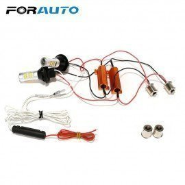 2Pcs/Set Daytime Running Lights 2 In 1 Dc 12V 1156 42 Leds Auto Lamps Car Turn Signal Light Car-Styling Led Car Drl Forauto/hoodmat.com