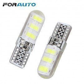 1 Pair Led License Plate Lights T10 6Smd 5630 Canbus Reversing Lamps Silicone Clearance Lights Dome Reading Lamps Forauto/hoodmat.com