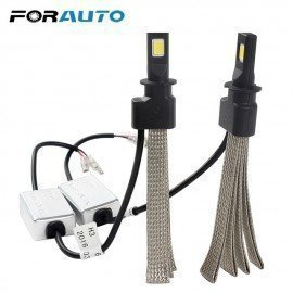 30W/Each Bulb Car Styling Led Headlight H3 6000K Conversion Kit 3200Lm Easy To Install Aluminum Alloy Belt Heat Dissipation Forauto/hoodmat.com