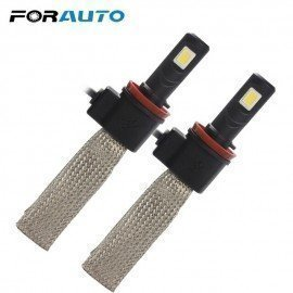 3200Lm Car Styling 30W/Each Bulb H11 6000K Led Headlight Aluminum Alloy Belt Heat Dissipation Conversion Kit Forauto/hoodmat.com
