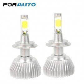 2Pcs C6 Series Conversion Light Head Light   Cob  All In One  Car-Styling H7 Car Led Headlight Headlamp Light Source Forauto/hoodmat.com