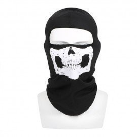 Ghost Skull Motorcycle Bike Windproof Mask Neck Warm Balaclava Breathable Full Face Mask Halloween Winter Ski Mask Unisex Forauto/hoodmat.com