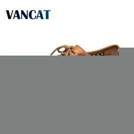 2017 Brand Men Mesh Summer Shoes Male Comfortable Casual Shoes Breathable Fashion Genuine Leather Men Shoes Men Soft Flats Shoes Vancat/hoodmat.com