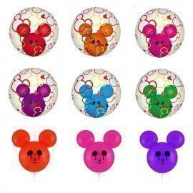 Disney Mickey Mouse Theme Mickey Mouse Ear Balloons Birthday Party Decoration Mickey Mouse Action Figure Balloons Toys For Kids Wonder Toy World/hoodmat.com