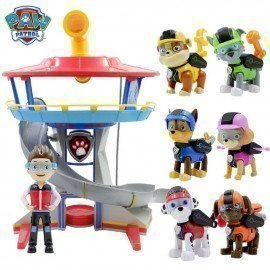 Hot Paw Patrol Plastic Playset Observatory Toys Patrulla Canina Toys With Music Action Figures Juguetes Toys Kids Children Toys Wonder Toy World/hoodmat.com