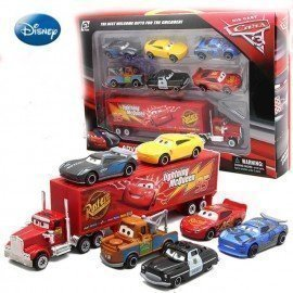 7Pcs Disney Pixar Cars Figures Jackson Storm Cruz Mater Mack Uncle Truck 1:55 Metal Car Toy For Kid Boys Christmas Birthday Gift Wonder Toy World/hoodmat.com