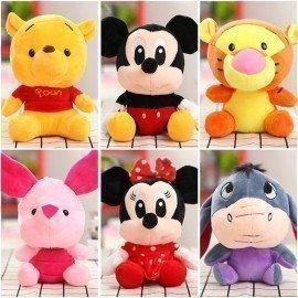Cute 10/20Cm Disney Mickey Mouse Plush Figure Toys Disney Winnie The Poohs Stitch Lilo Plush Model Toy Gift For Children Girls Wonder Toy World/hoodmat.com