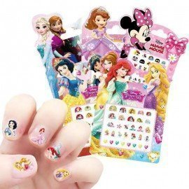 Original Mickey Mouse Frozen Elsa And Anna Figure Toy Nail Stickers Toys Disney Snow White Princess  Minnie Kids Baby Gift Toy Wonder Toy World/hoodmat.com