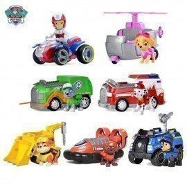 Paw Patrol Everest Rescue Racers Figure Toy Puppy Patrol Tracker Jungle Pup Rocky Ryder Patrulla Canina Toys Cars Toy Kids Gift  Wonder Toy World/hoodmat.com