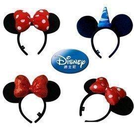 Disney Genuine Toy Minnie Mickey Mouse Headdress Figure Toys Minnie Ears Girls Hair Bands Princess Plush Figure  Kid Gift Toys Wonder Toy World/hoodmat.com
