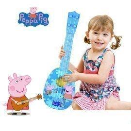 Peppa Pig George 36Cm/14&Quot; Original Children Musical Instruments Figure Toys Ukulele Guitarpeppa Pig Christma Gifts Toys For Kids Wonder Toy World/hoodmat.com